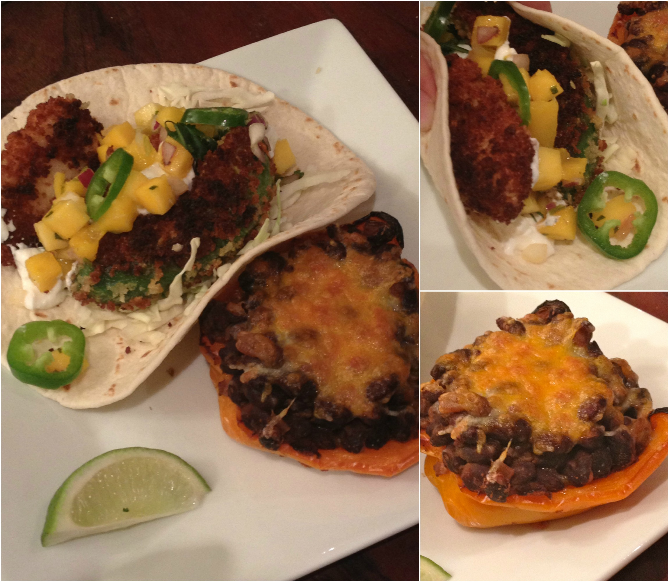 fried tacos and stuffed peppers