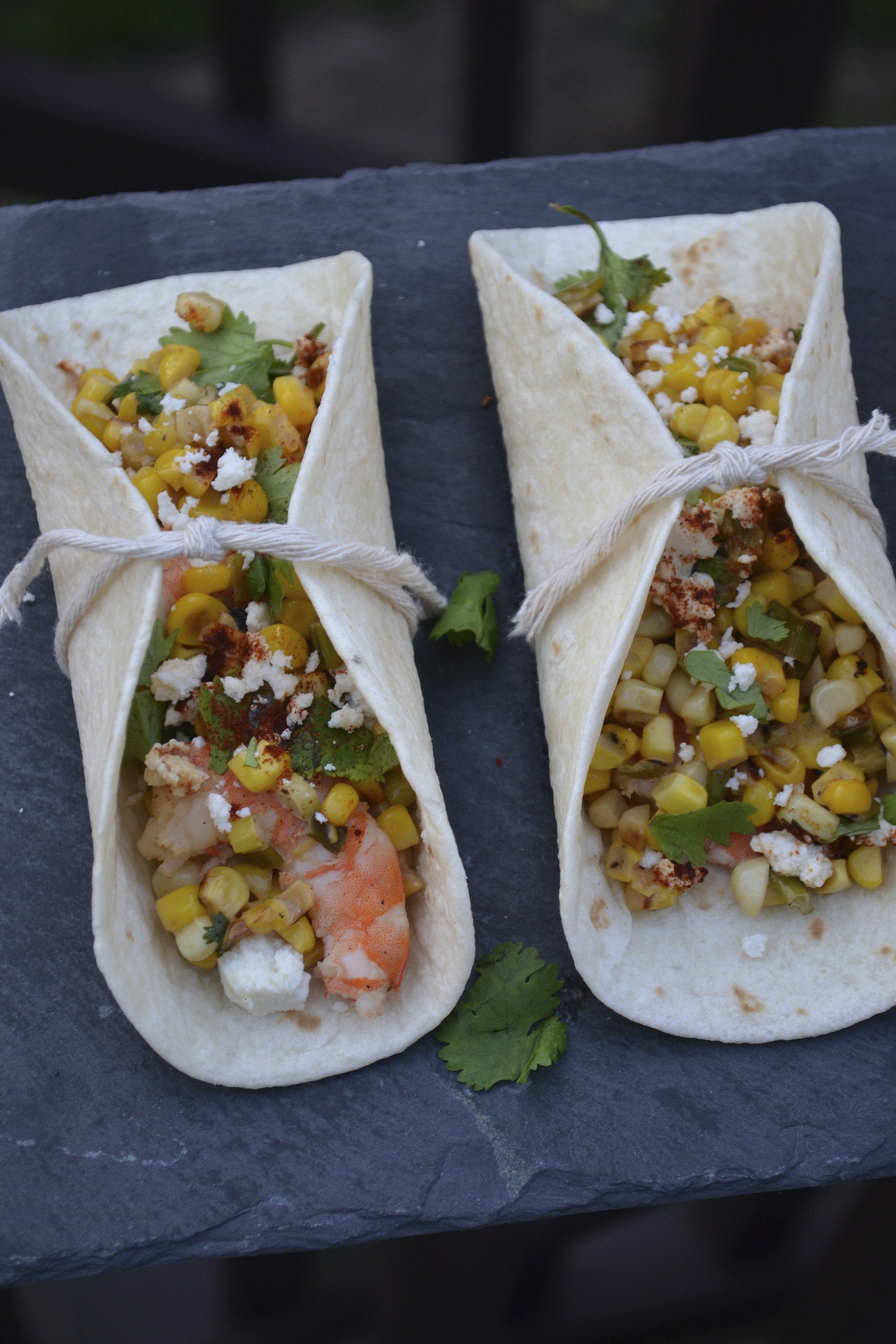Shrimp and Mexican Street Corn Tacos 2