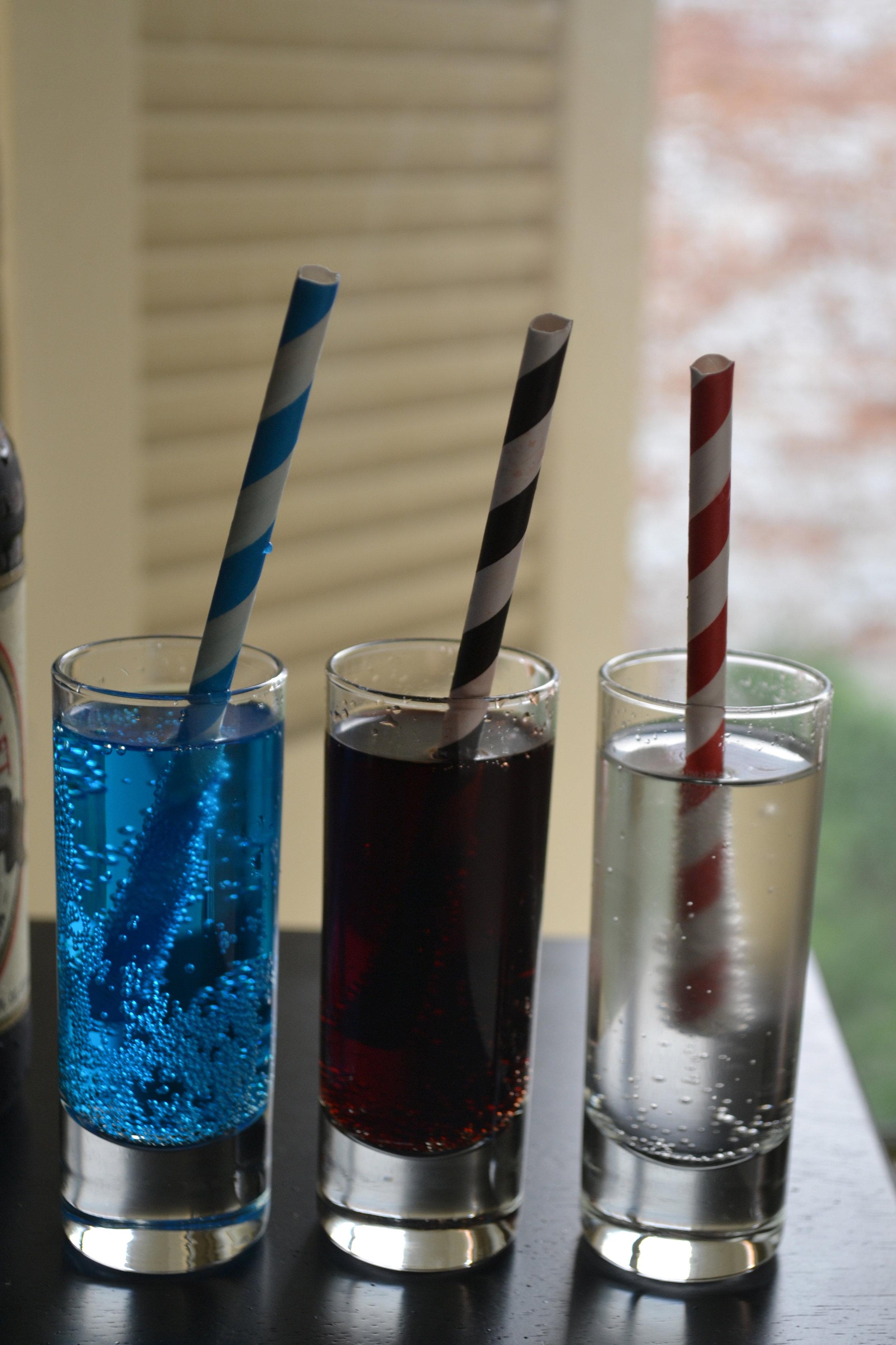 Patriotic Soda Shots