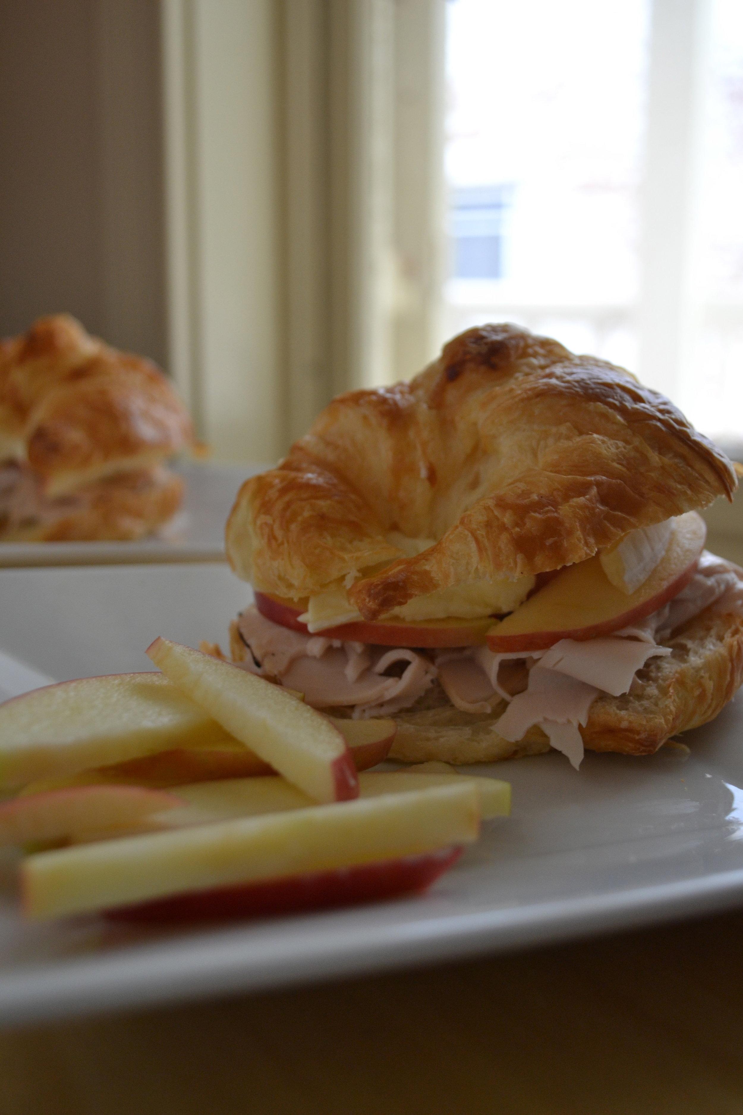 Apple, Turkey & Brie Croissants