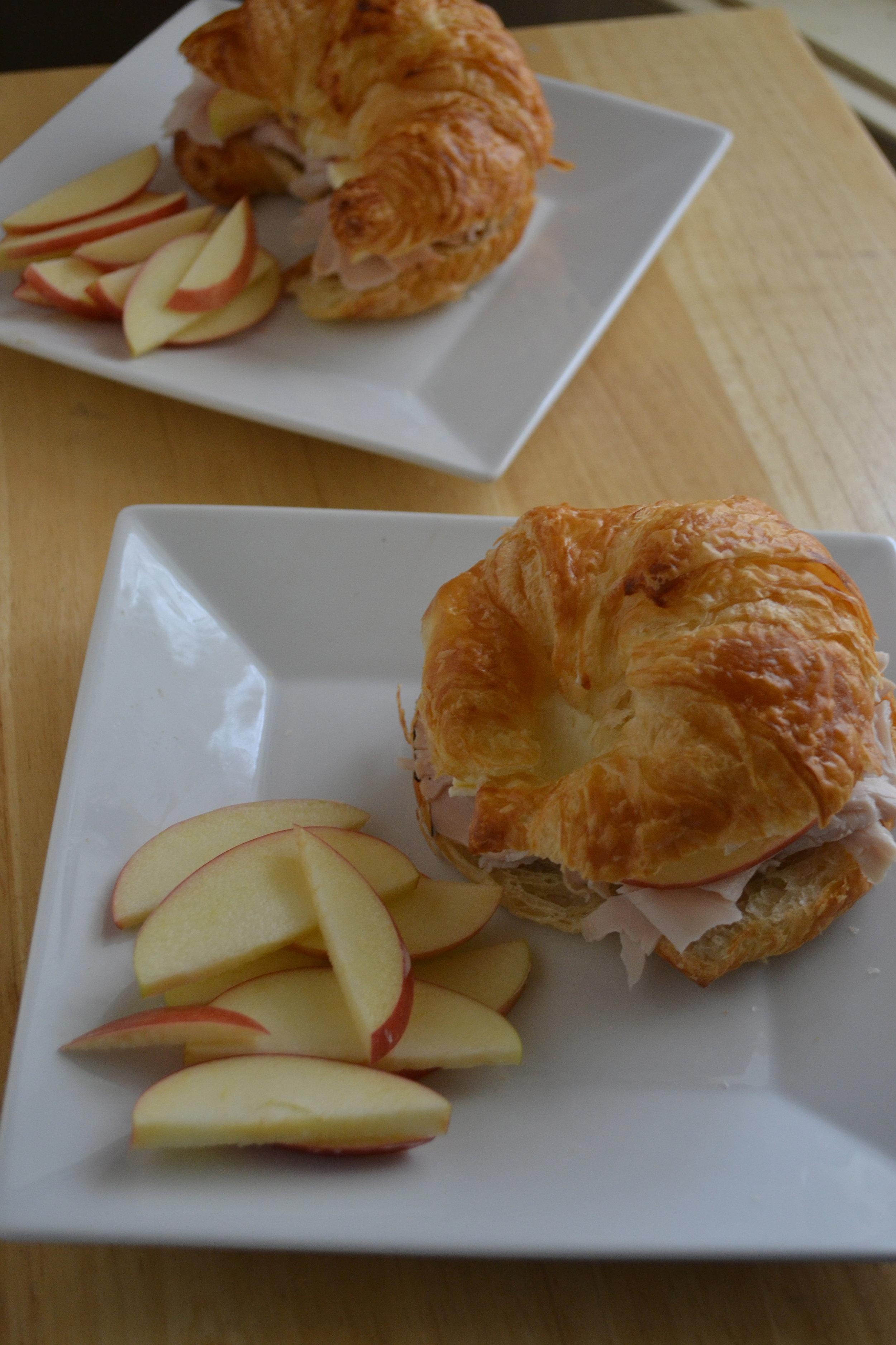 Apple, Turkey & Brie Croissants 2