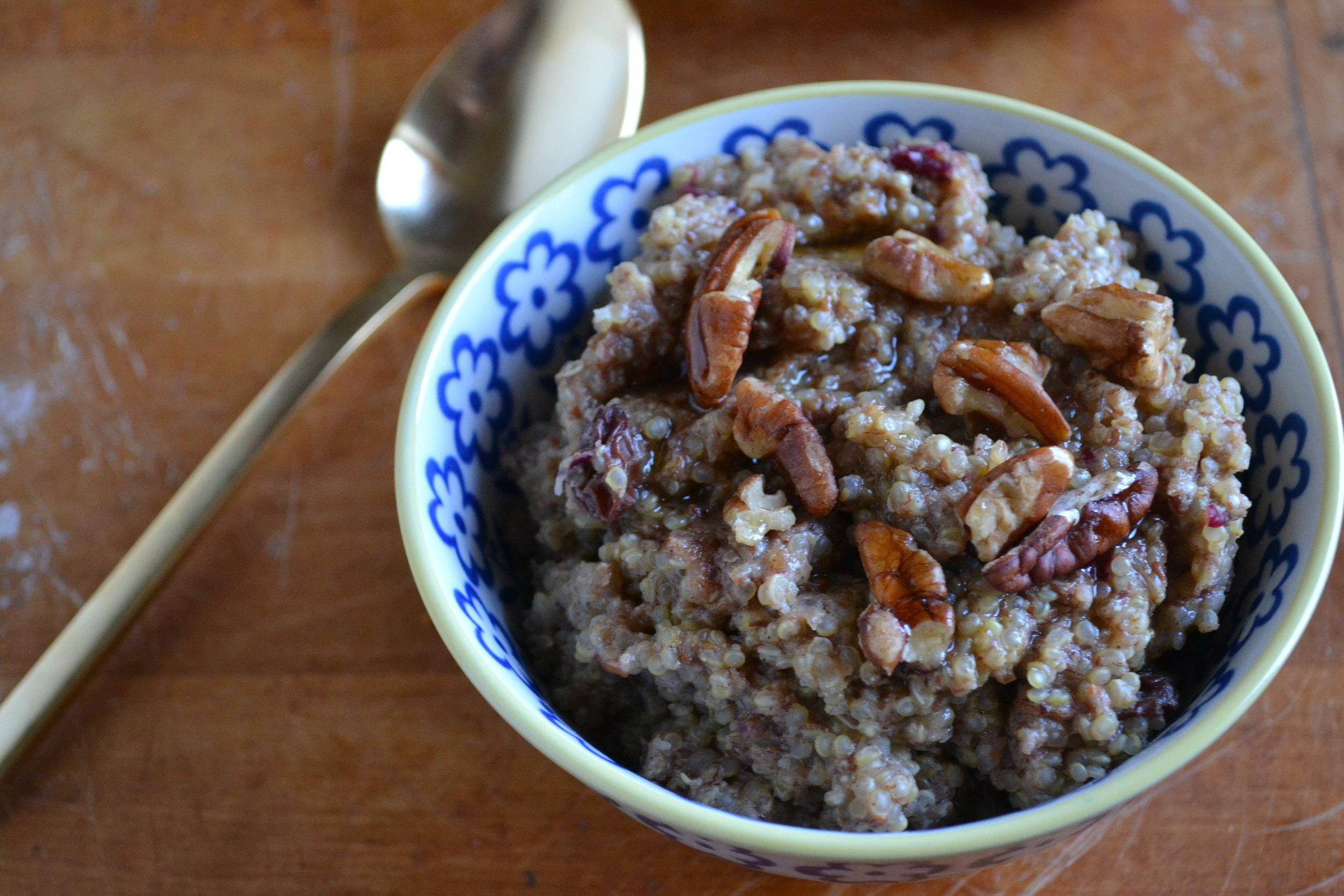 apple pecan breakfast quinoa 3