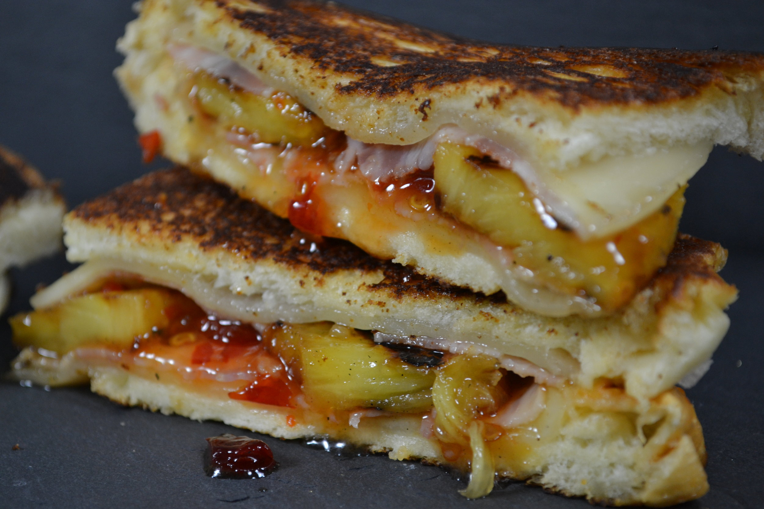 Ham, Pineapple & Sweet Chili Grilled Cheese