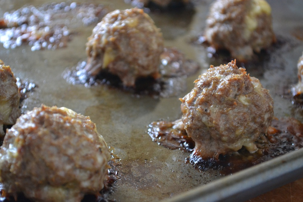 Blue Cheese and Roasted Garlic Meatballs