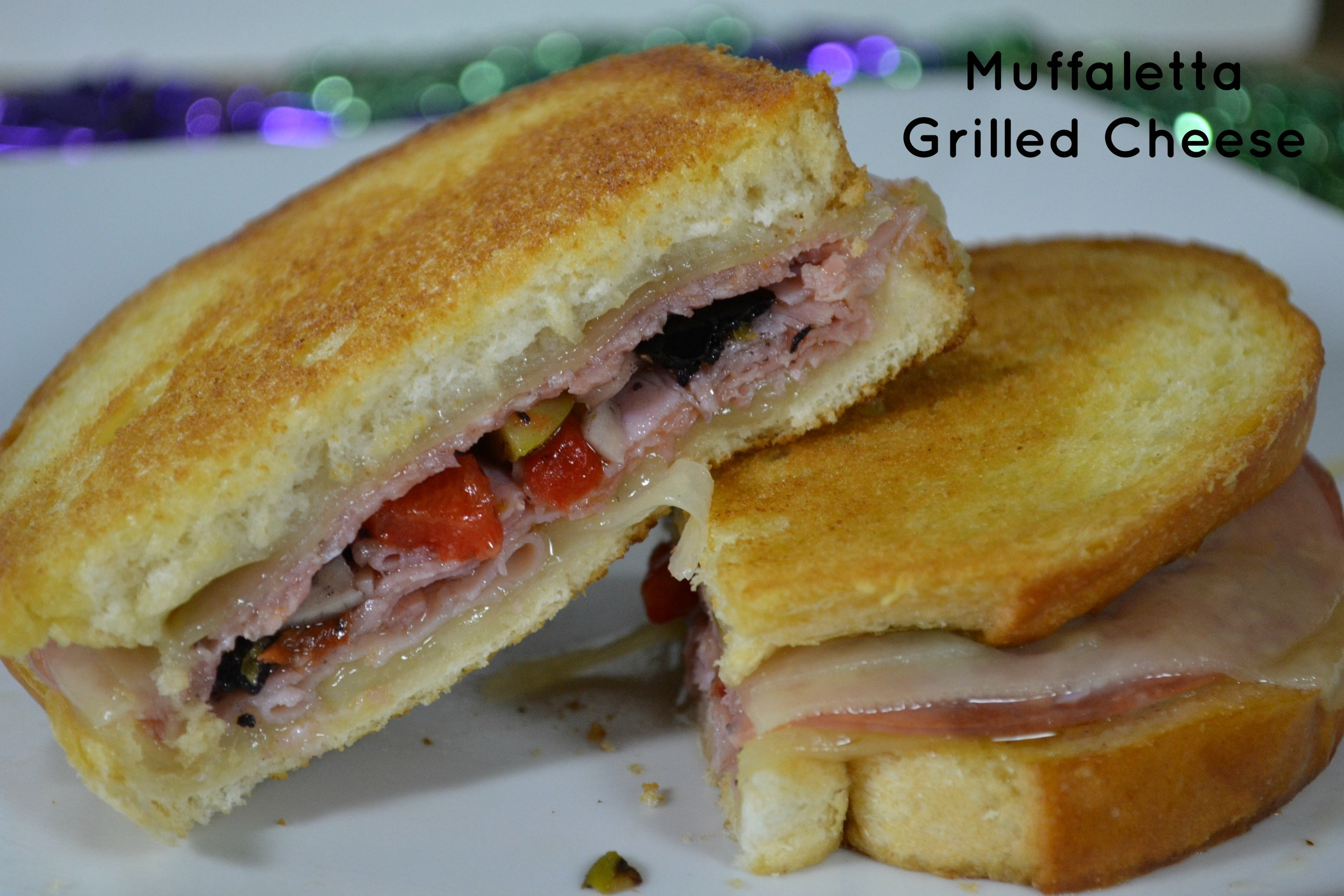 muffaletta grilled cheese