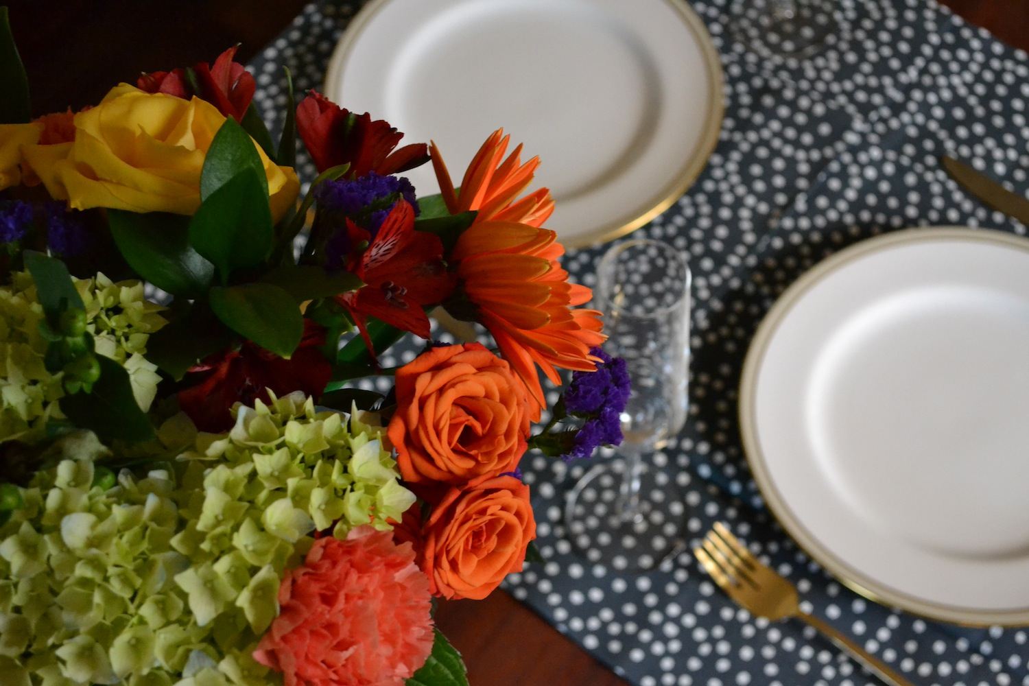 flowers and place settings
