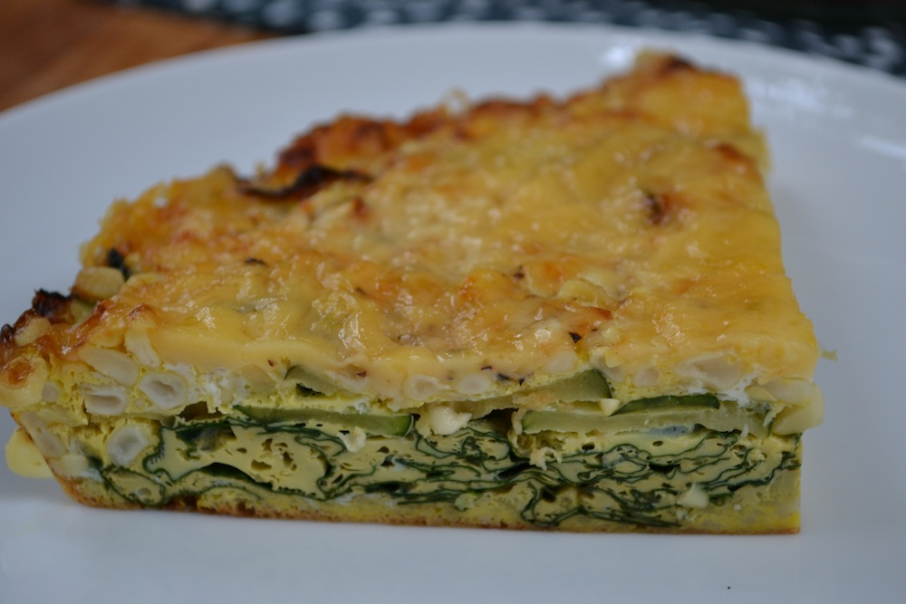 Vegetable Egg Pie Slice