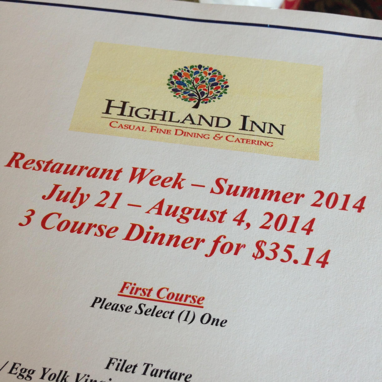 Highland Inn RW info
