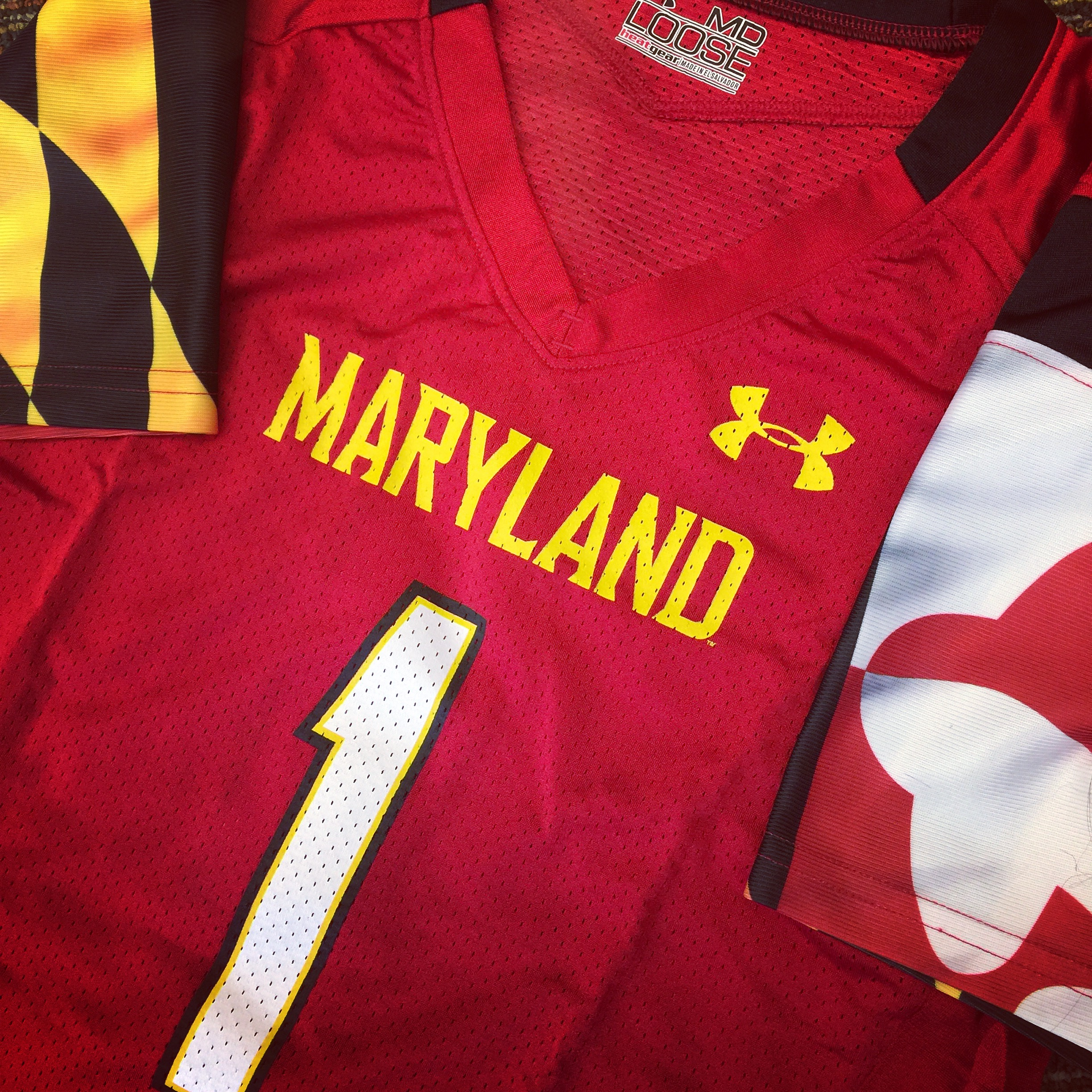 red maryland jersey