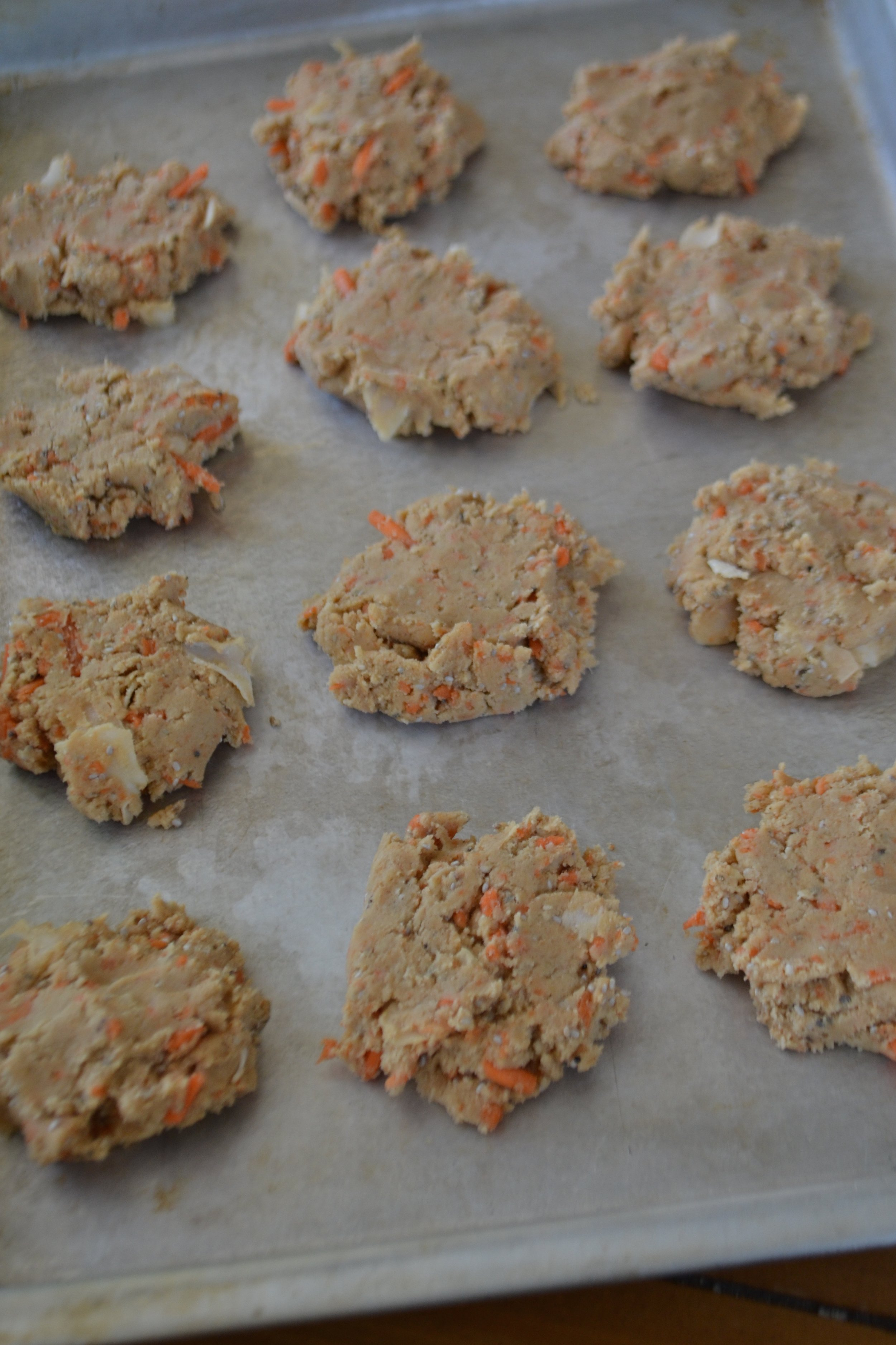 Pre-baked Coconut Carrot Protein Cookies