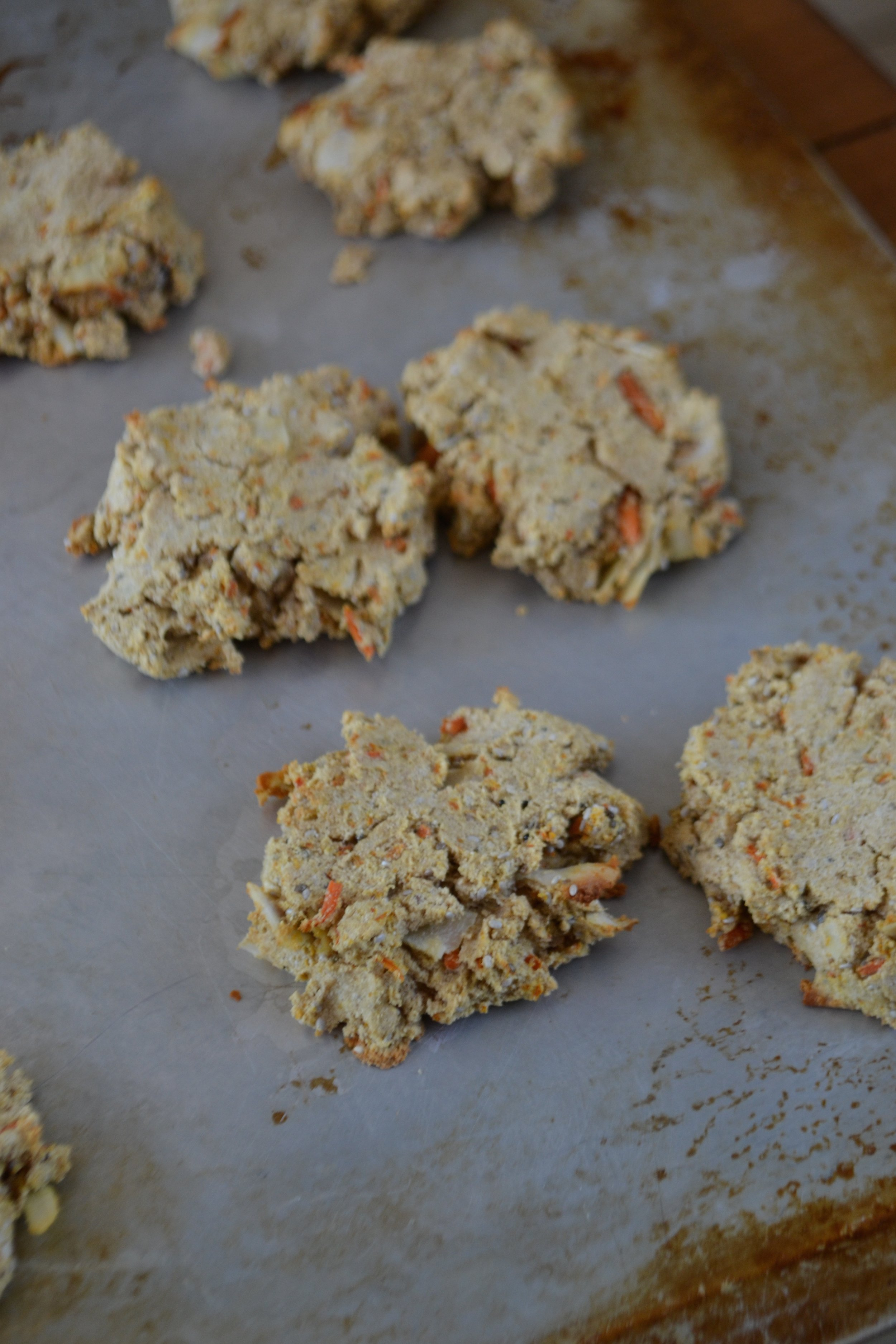 Coconut Carrot Protein Cookies
