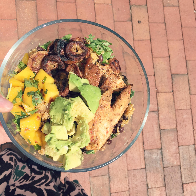 cuban chicken bowl
