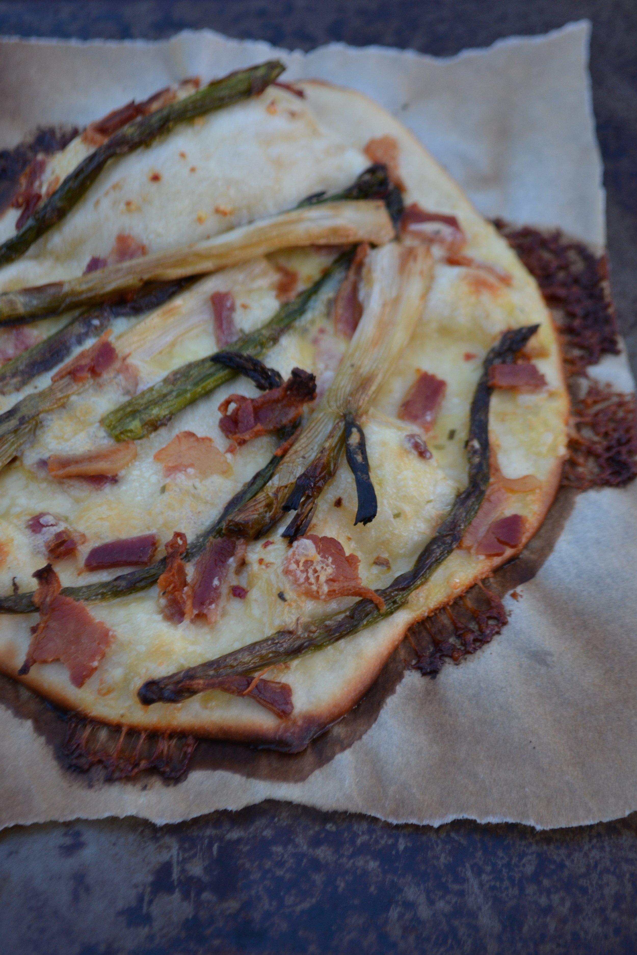 Asparagus & Spring Onion Pizza 2