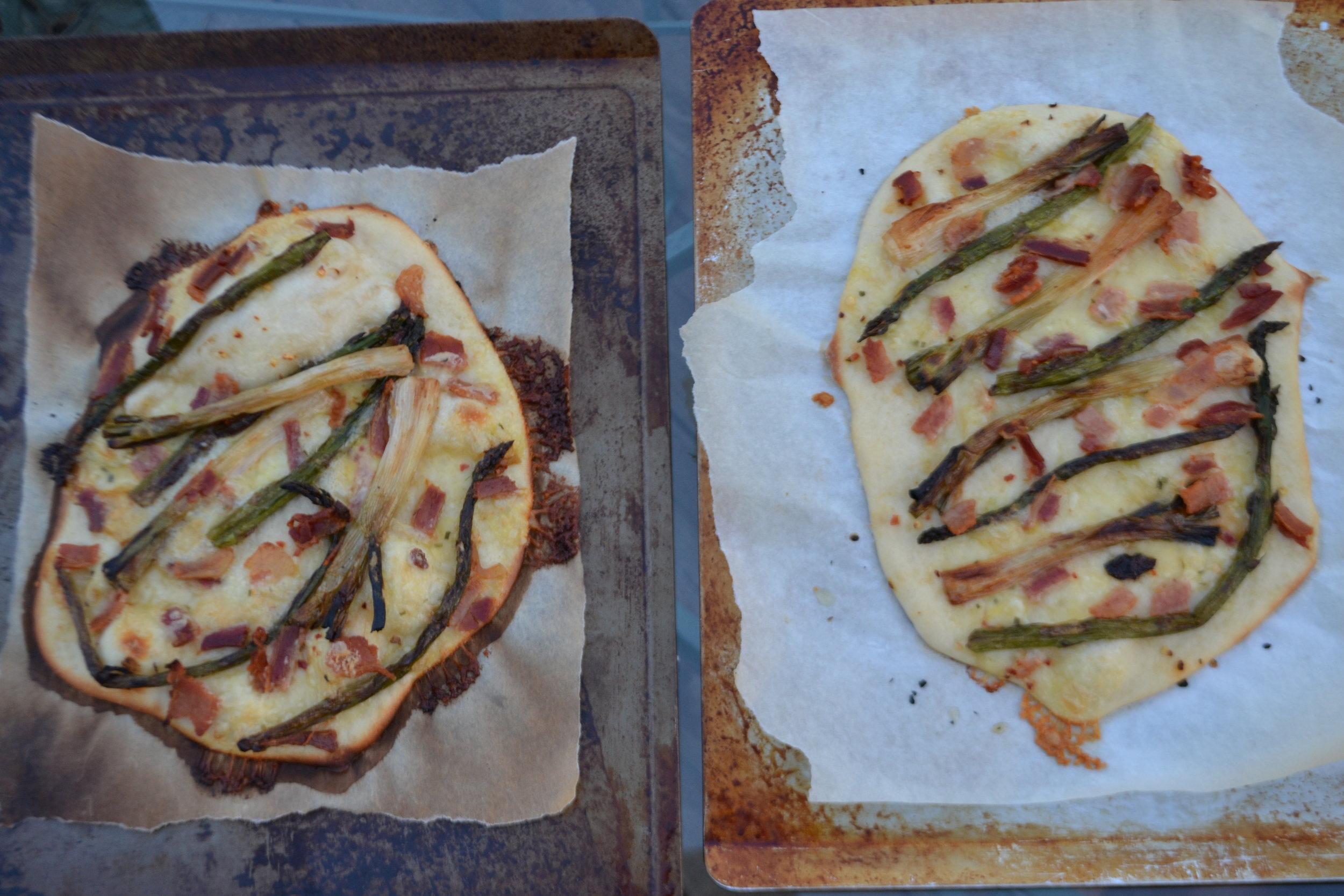 Asparagus & Spring Onion Pizza
