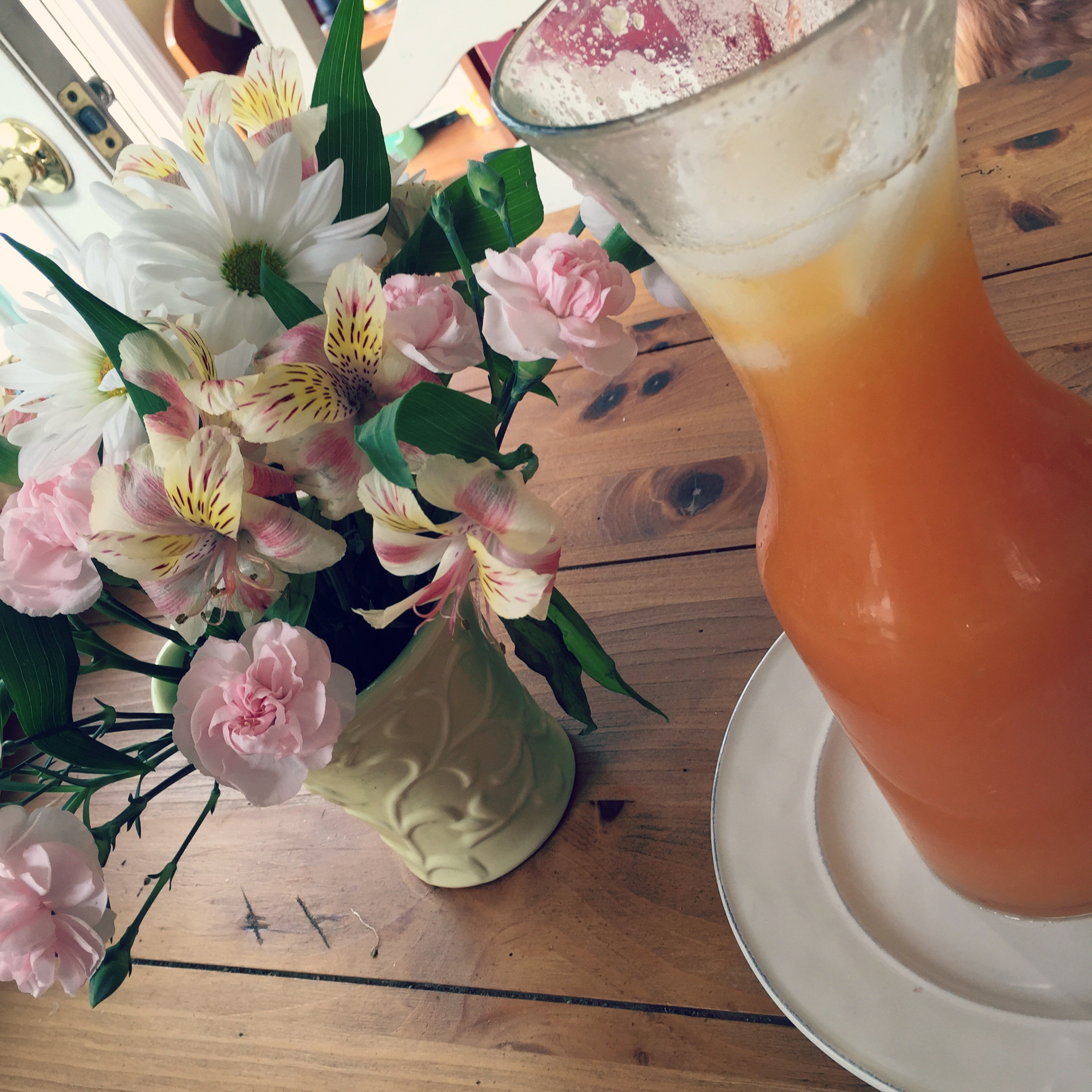 Flowers and juice