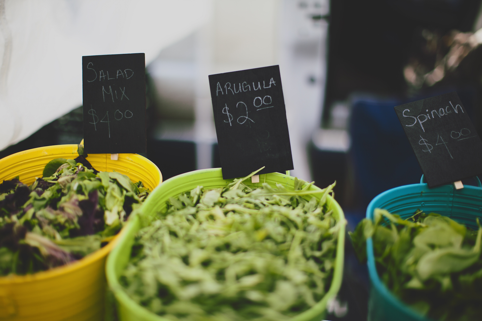 Veggies at Farmers Market shot by Emily Gude