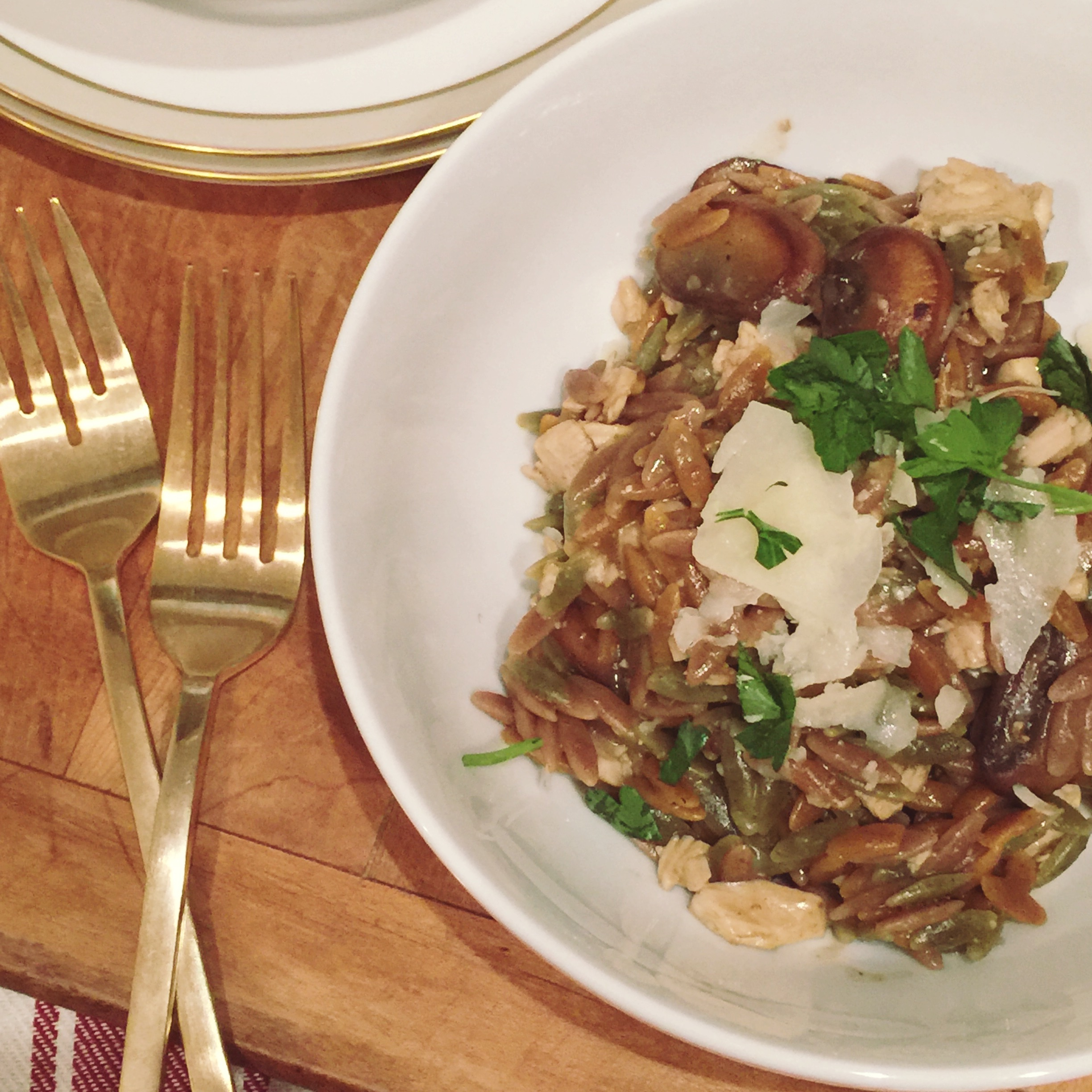 Turkey and Mushroom Risotto for Two 3