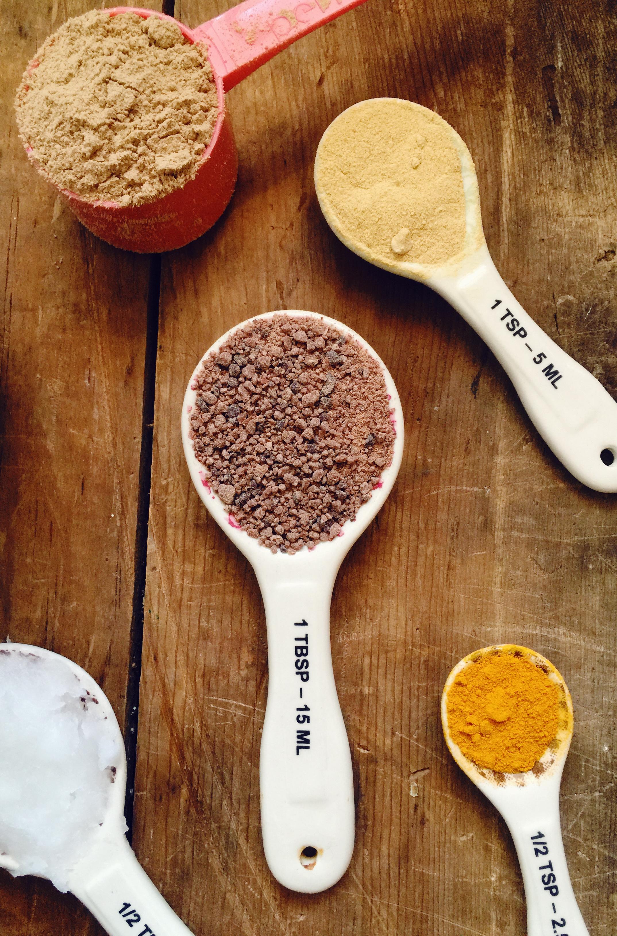 Superfood hot chocolate ingredients