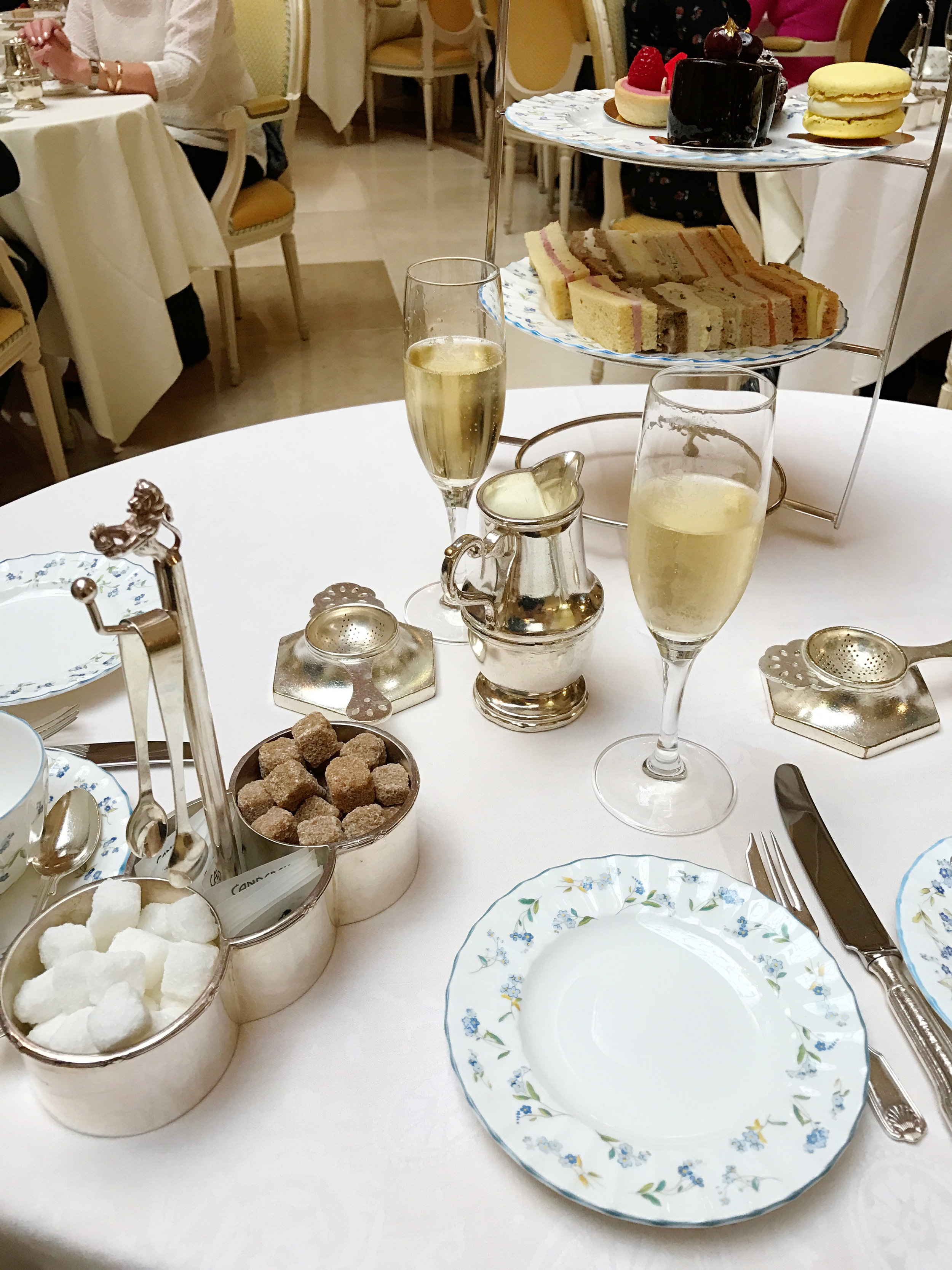 Champagne start to high tea at The Ritz London - #Kurtantravels London Travel Guide Part 2 - BySarahRae.com