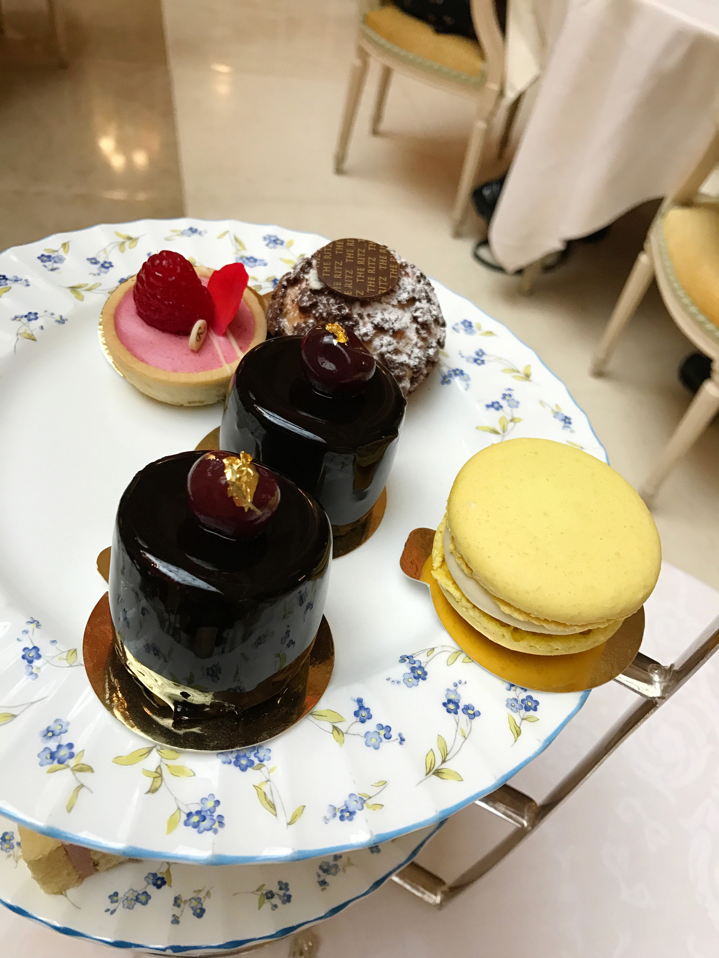 Adorable Dessert Tray during high tea at The Ritz London - #Kurtantravels London Travel Guide Part 2 - BySarahRae.com