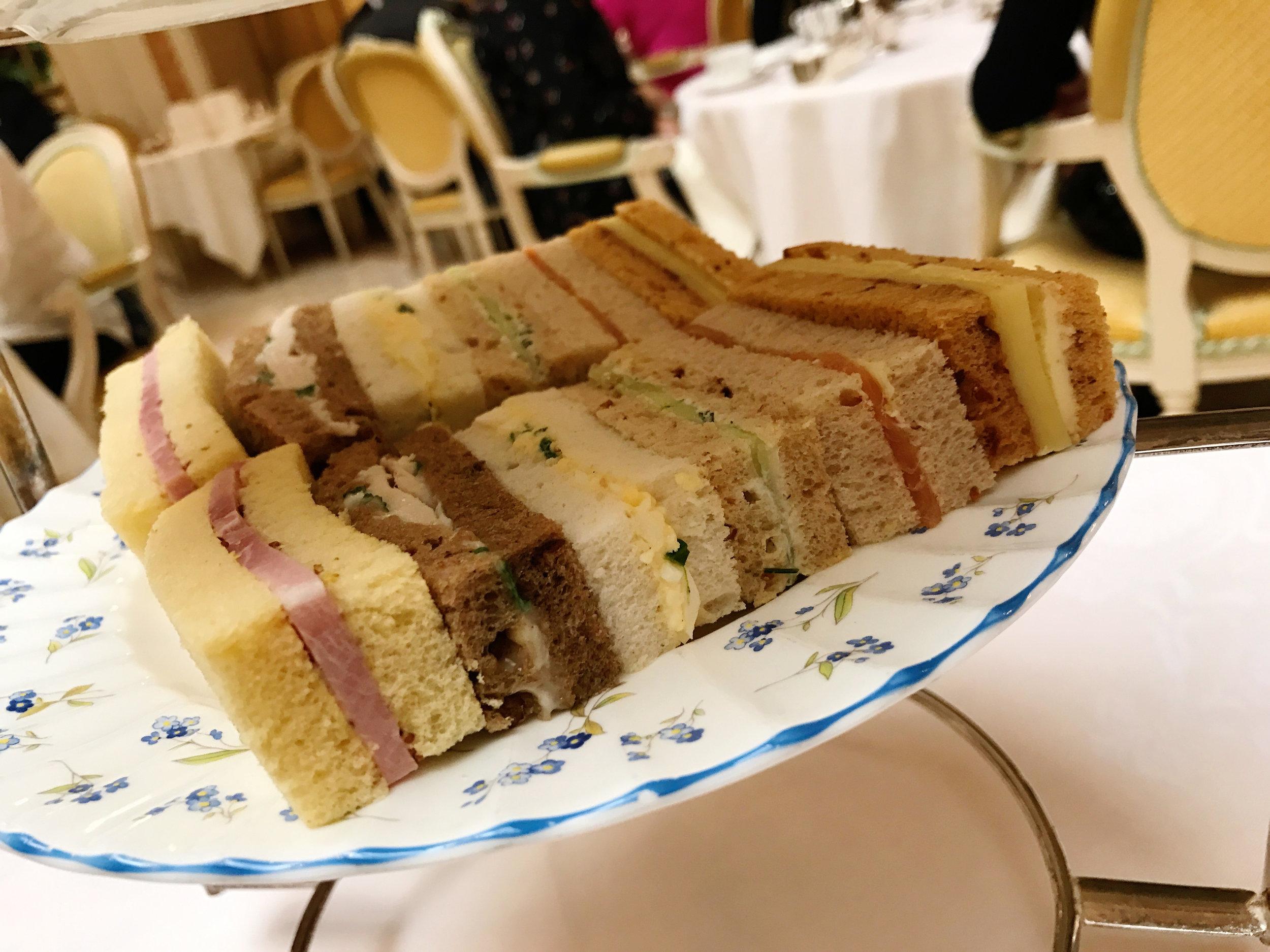 Adorable Tea Sandwiches at The Ritz London - #Kurtantravels London Travel Guide Part 2 - BySarahRae.com