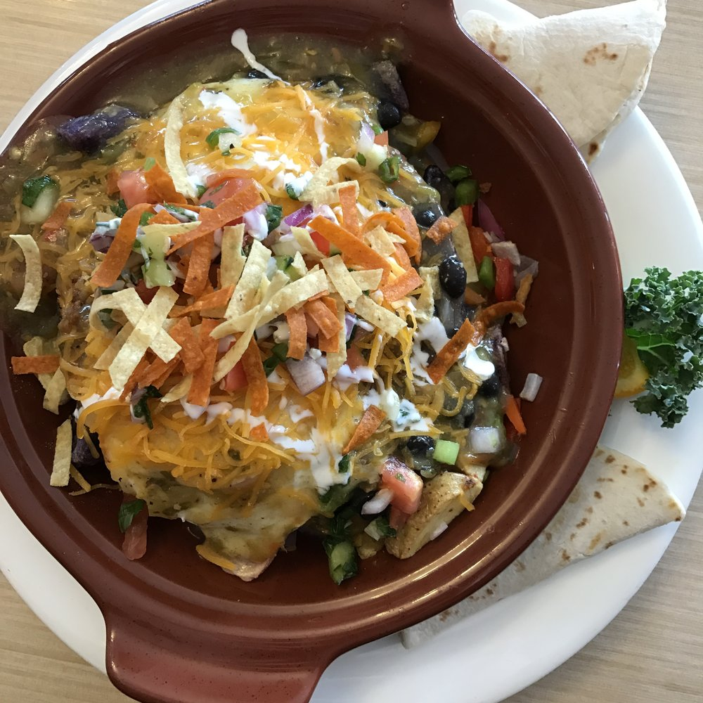 Breakfast skillet special at Red Rocks Cafe   Sedona Babymoon Itinerary   BySarahRae.com