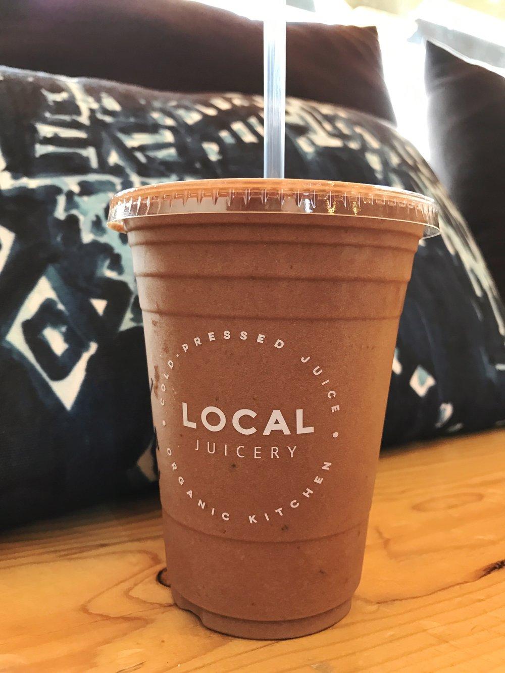 Local Juicery Sedona Arizona Classic Cacao Smoothie   Sedona Babymoon Itinerary   BySarahRae.com