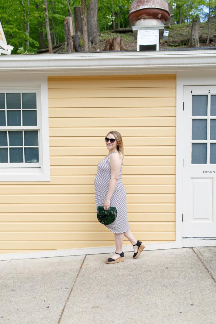 Dressing the Bump Parisian stripes | BySarahRae.com