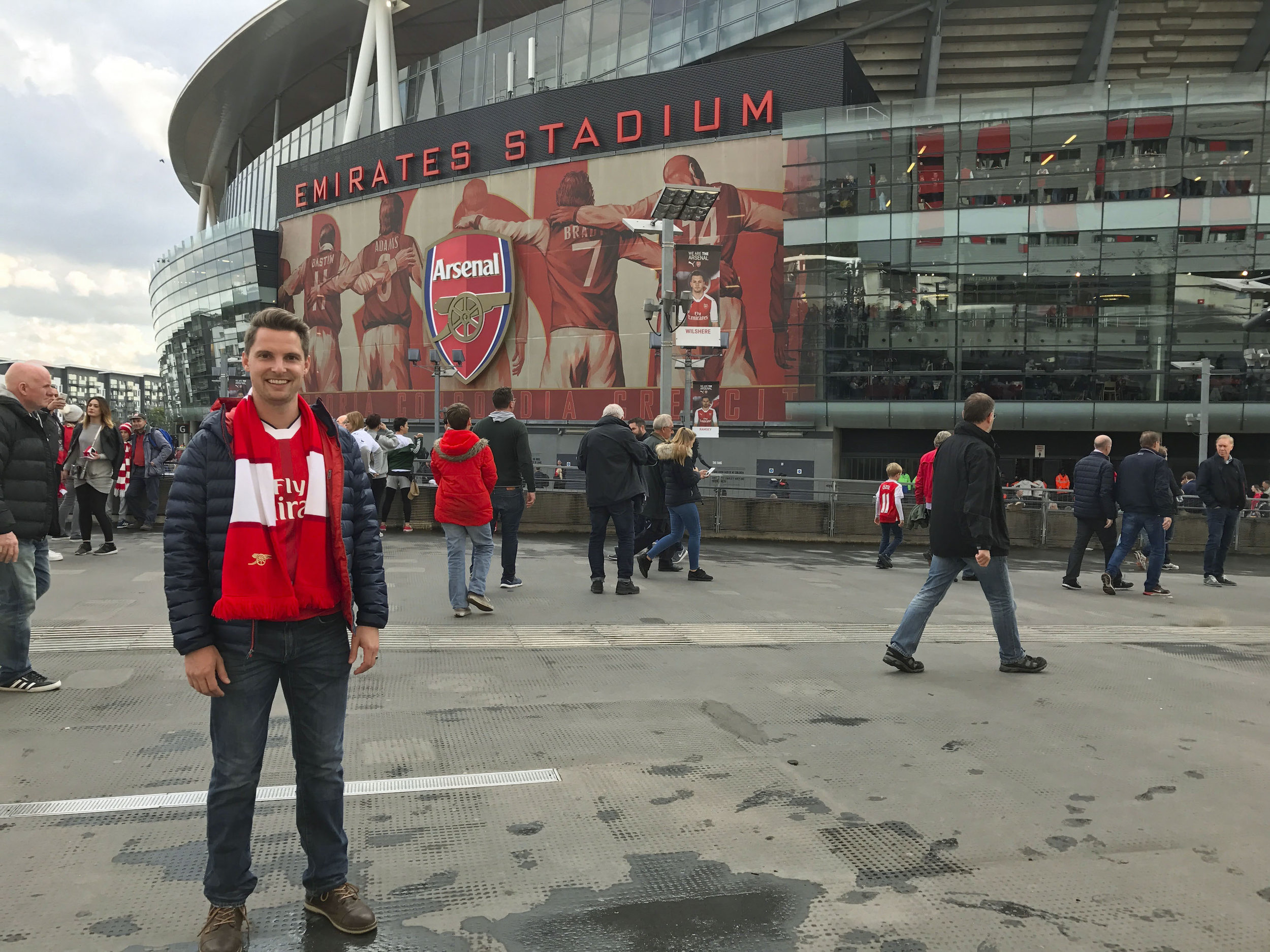 Rob outside of Emirates Stadium Pre Arsenal Match