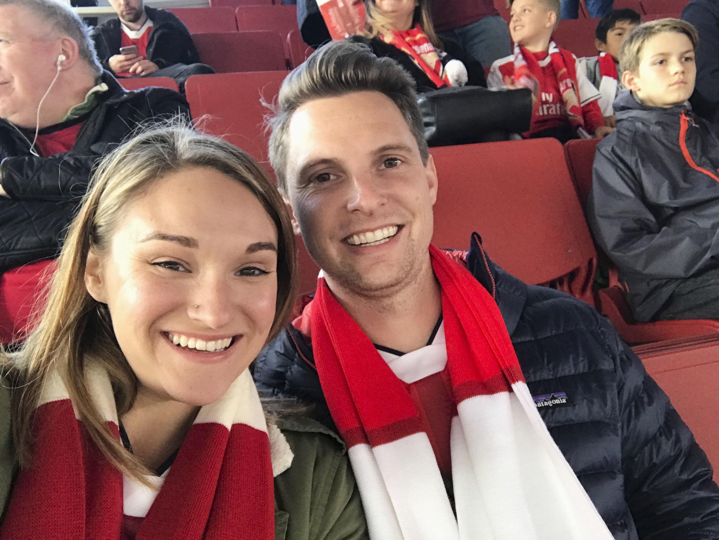 At the Arsenal Match | London itinerary | BySarahRae.com