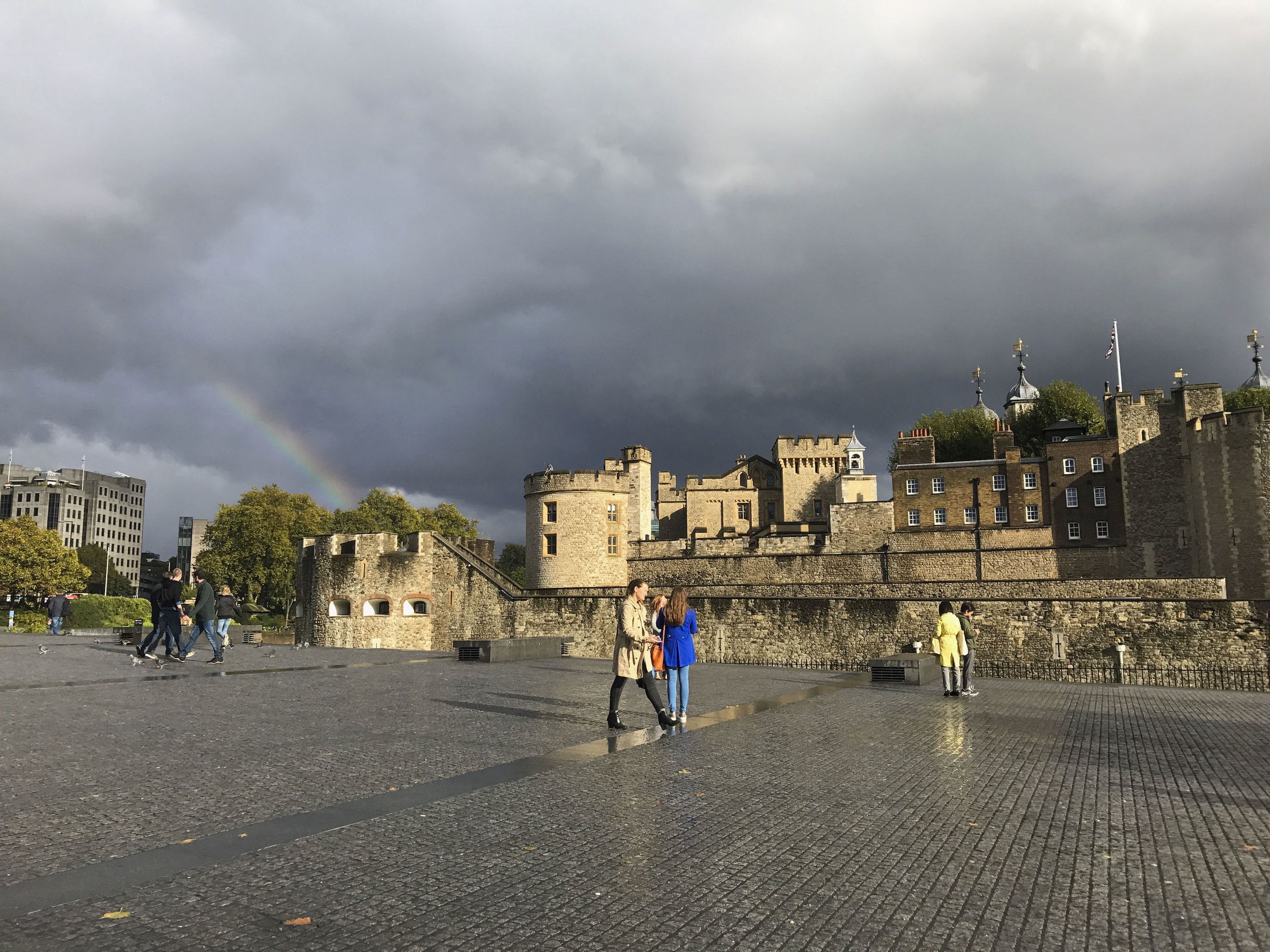 Rainbow over The Tower of London | London Travel Guide Part 3 | BySarahRae.com