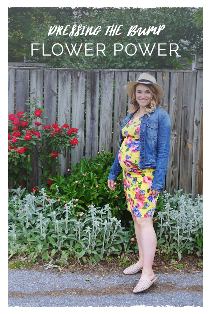 Dressing the Bump - Flower Power | Maternity Style | BySarahRae.com