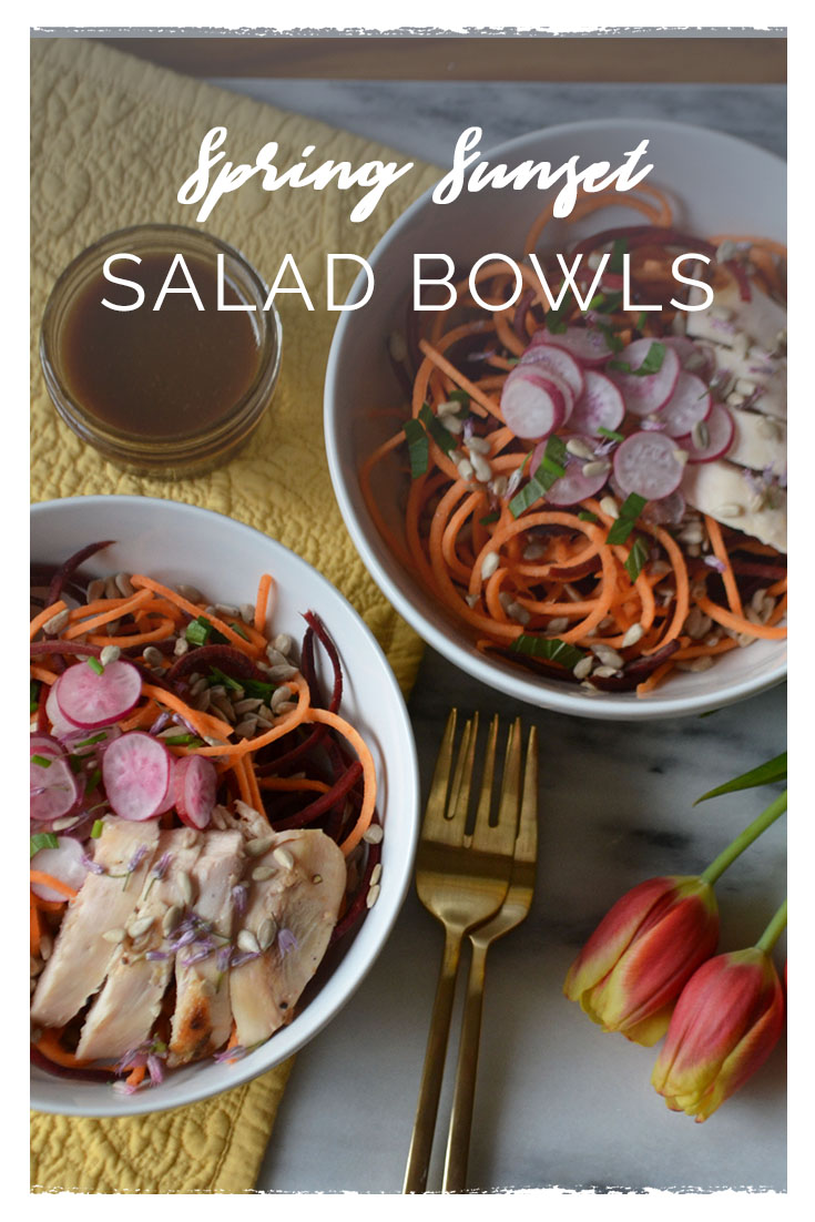 Spring Sunset Salad Bowls | Seasonal Recipes | BySarahRae.com