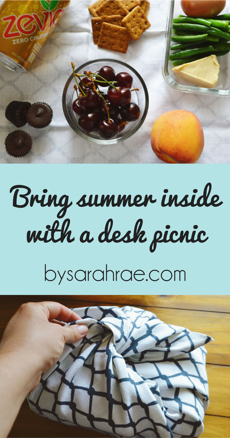Bring Summer Inside with a Desk Picnic | BySarahRae.com