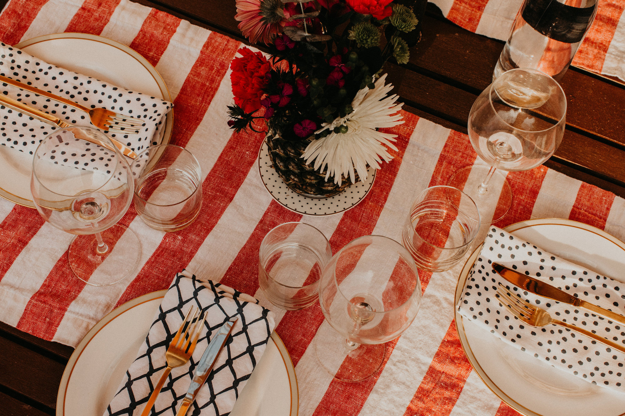 Ready for dinner | Backyard Summer Dinner Party | BySarahRae.com