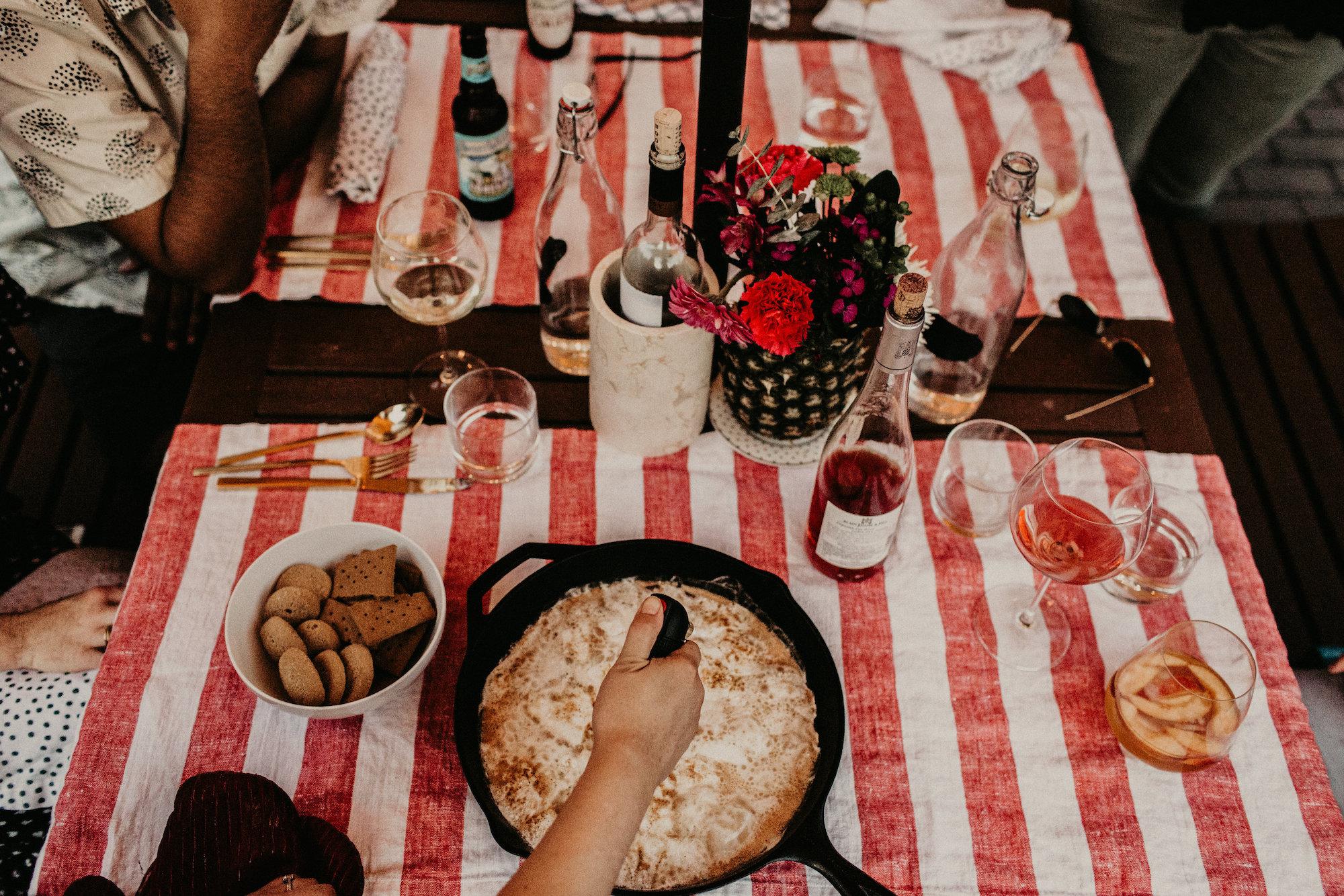 Skillet Smores | Backyard Summer Dinner Party | BySarahRae.com