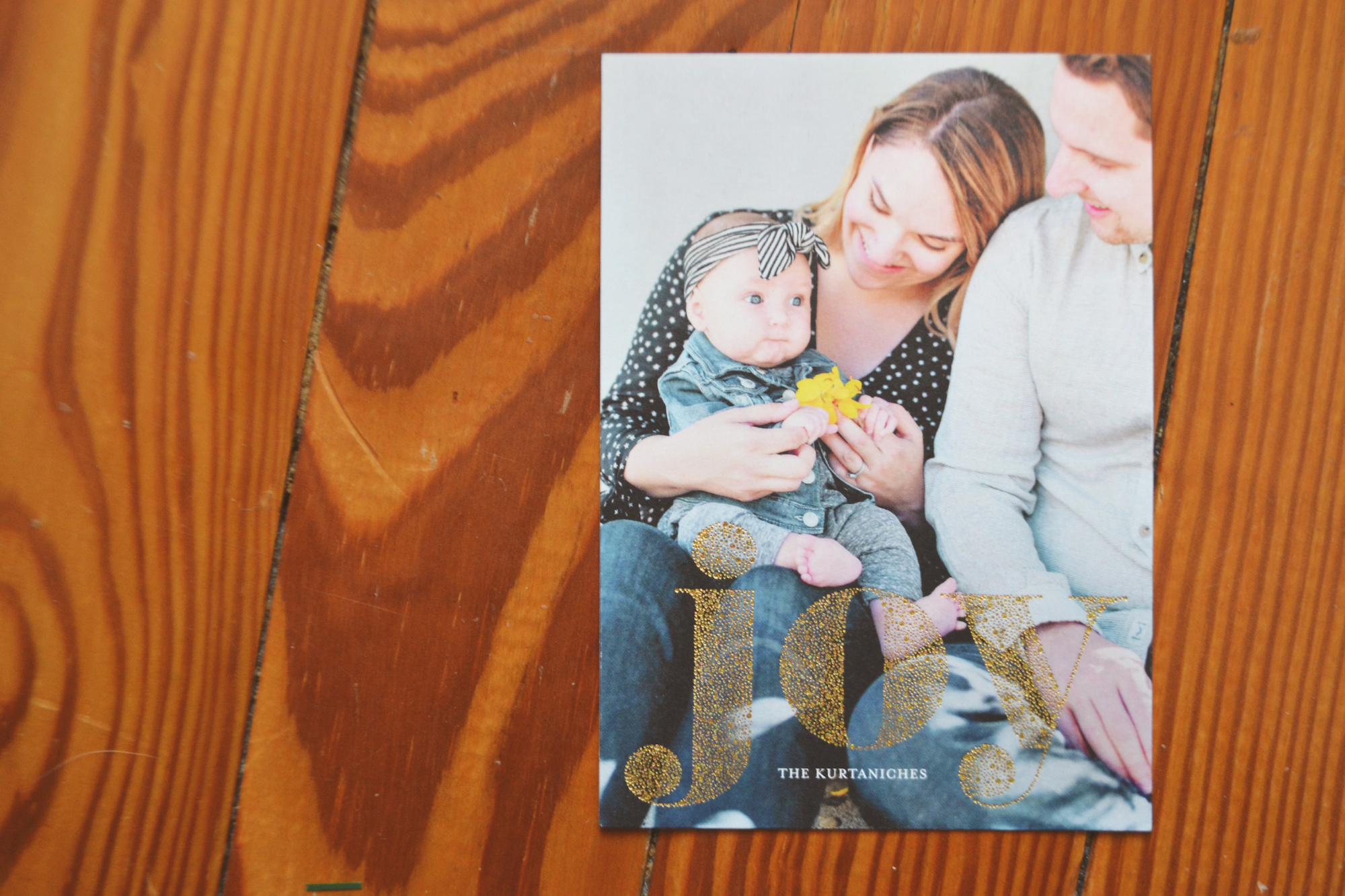 First Kurtanich Family of Three Christmas Cards from Minted