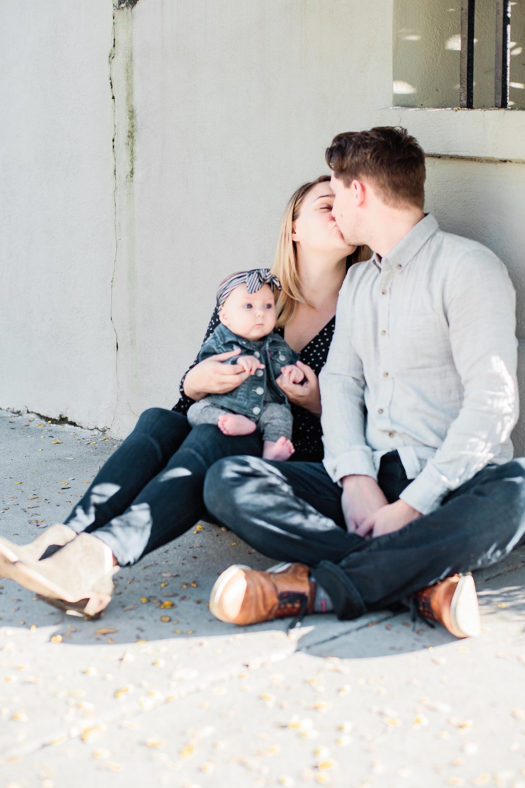 Kurtanich Family Kissing in Charleston