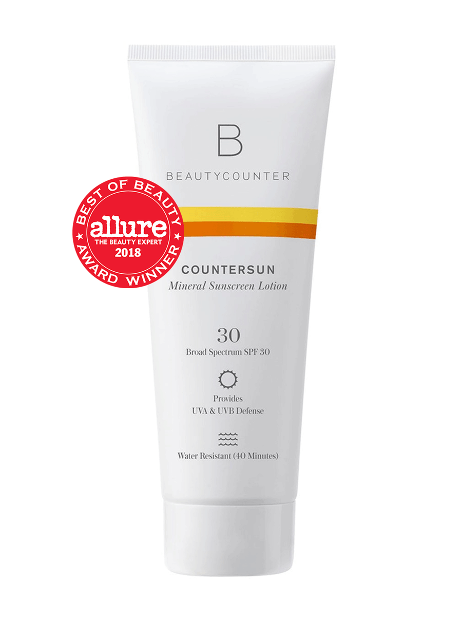If we're going to be outside for more than 20 minutes, we reach for our Beautycounter sunscreen. This effective mineral sunscreen is one of the few things I trust to put on my daughter's skin.