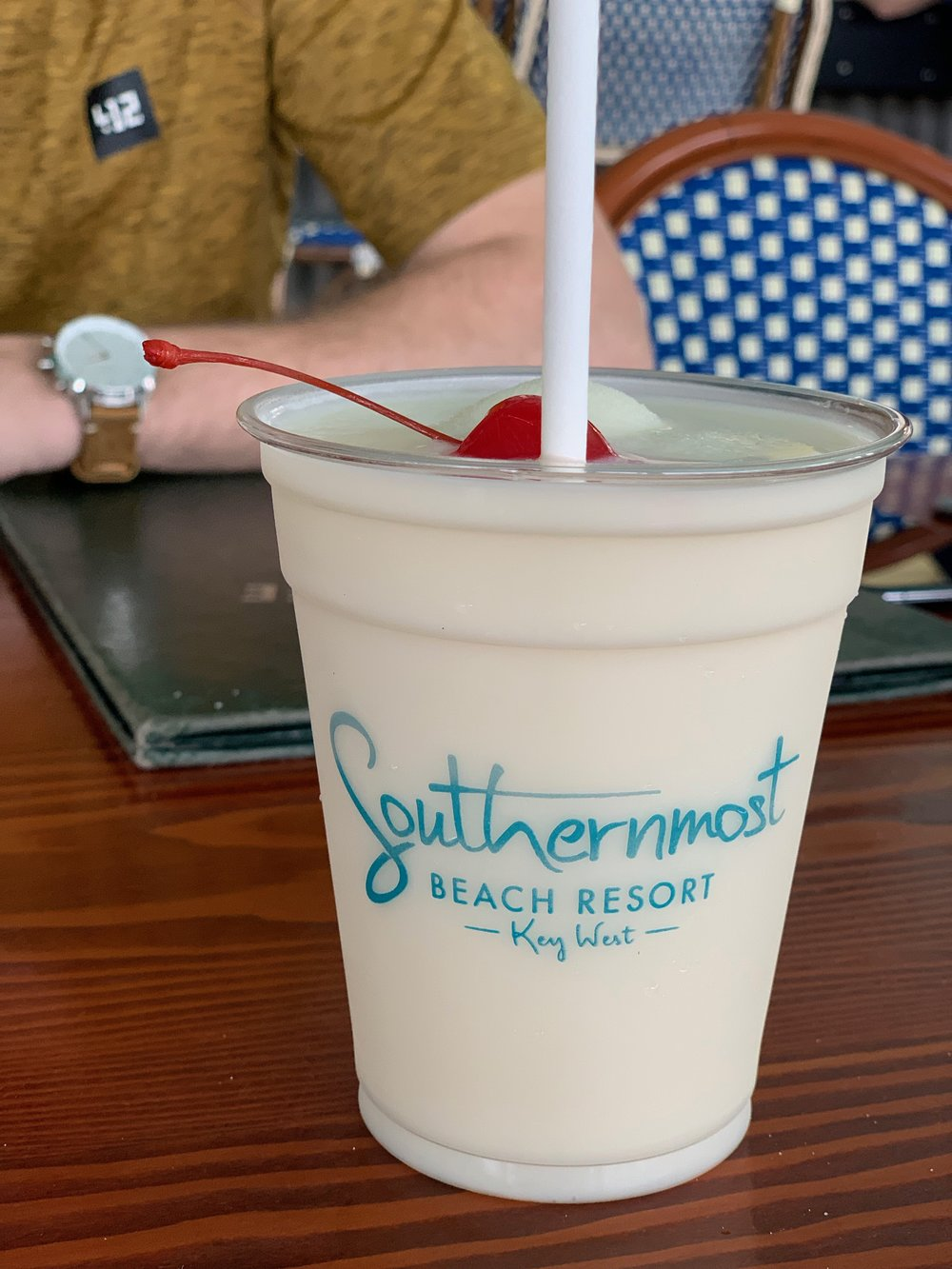 Pina Colada | Southernmost Beach Cafe | Key West | Traveling with a toddler | By Sarah Rae