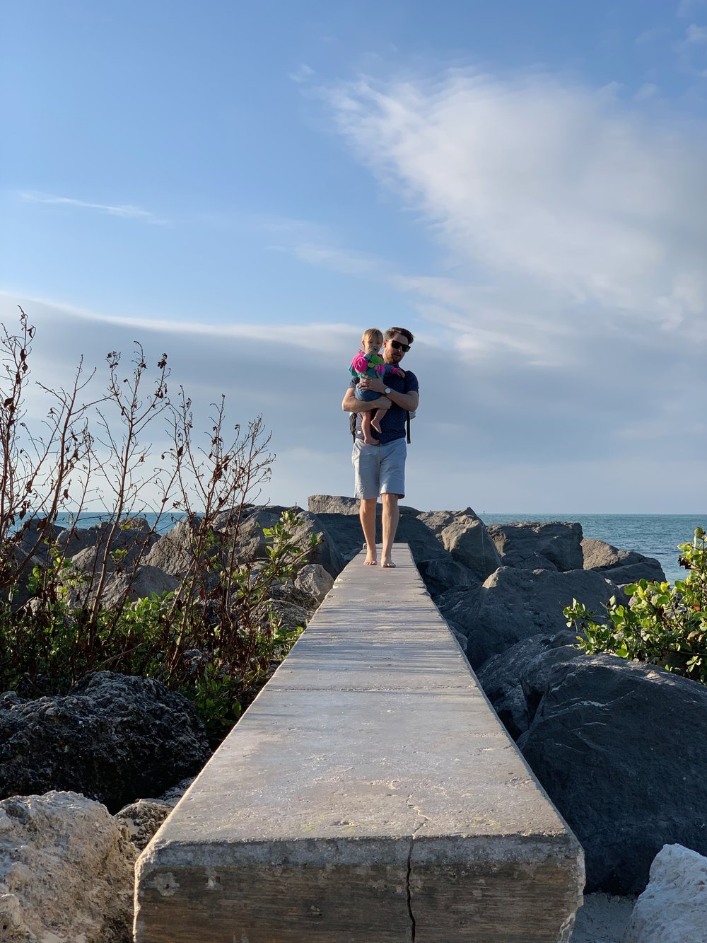 Fort Zachary Taylor Park Beach | Key West Florida | Traveling with a toddler | kid friendly | By Sarah Rae