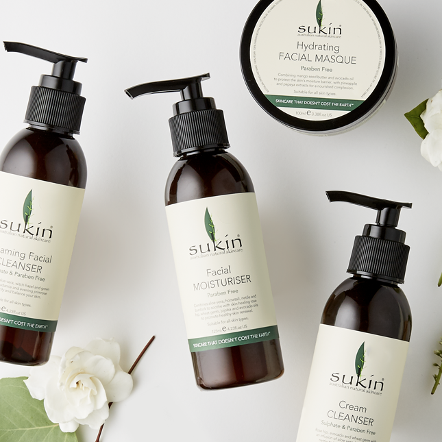 Sukin was founded in response to a lacking in the market for environmentally sustainable and affordable natural skincare. Image via  Sukin .