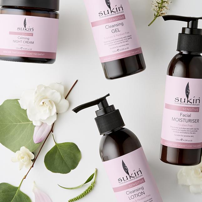 Sukin has a comprehensive range for sensitive skin. Image via  Sukin .