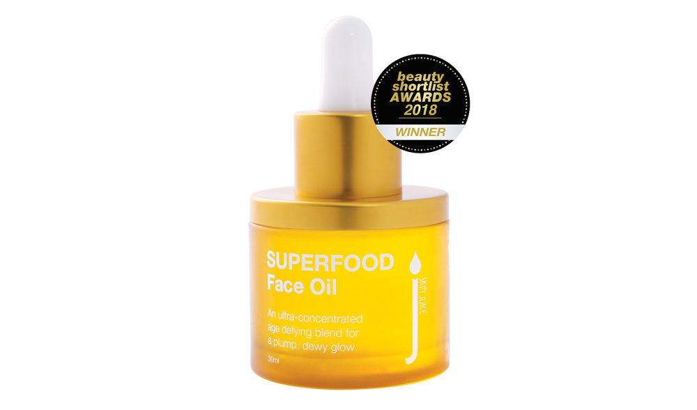 We recommend the  Skin Juice's cult Superfood Face Oil  to plump the skin.