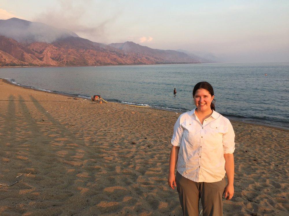 On the shore of Lake Malawi in Matema, Tanzania