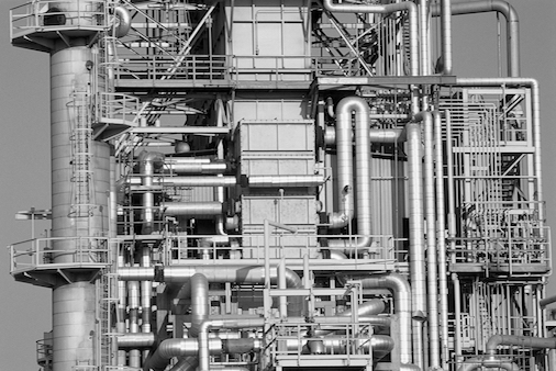 Modern Factory with pipes Wi-Fi HaLow