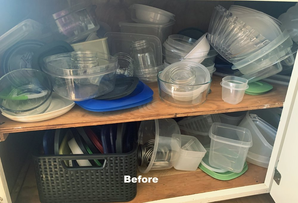 Storage containers before
