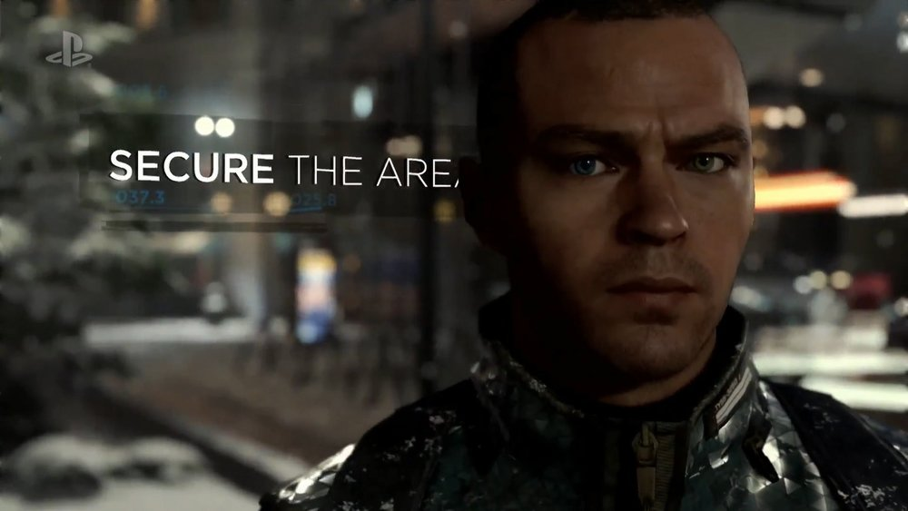 The HUD style instructions integrate seamlessly into the environment... even if they confuse Markus.