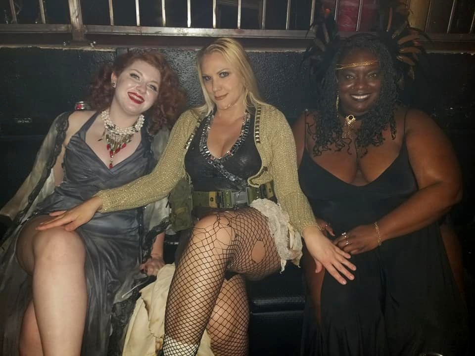 Meeting up with some of my fellow fabulous  Lost Vegas Nuclear Bombshells , Goldie and Scoutmaster. Photo courtesy of Goldie Vegas. My jewelry courtesy of  Compass Point Designs .