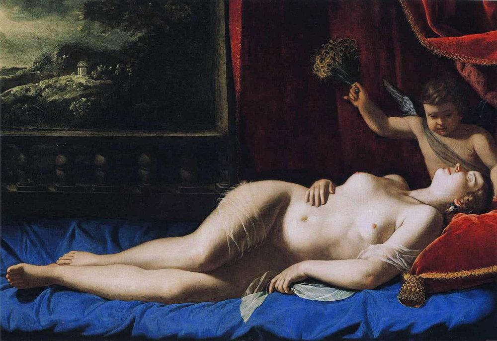 Artemisia Gentileschi, Venus and Cupid c 1625-30